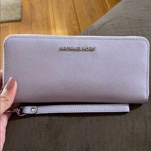 Purple MK Zip Around Wallet Wristlet